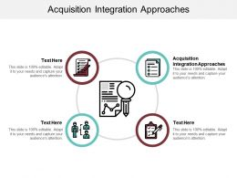 Acquisition Integration Approaches Ppt Powerpoint Presentation Infographics Graphics Cpb