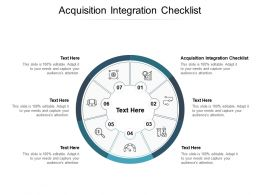 Acquisition Integration Checklist Ppt Powerpoint Presentation Professional Graphic Tips Cpb