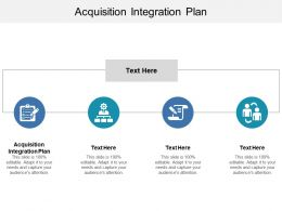 Acquisition Integration Plan Ppt Powerpoint Presentation Infographics Themes Cpb