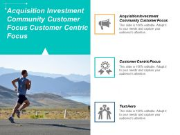 Acquisition Investment Community Customer Focus Customer Centric Focus Cpb