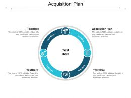 Acquisition Plan Ppt Powerpoint Presentation Gallery Elements Cpb