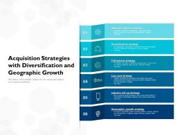 Acquisition Strategies With Diversification And Geographic Growth