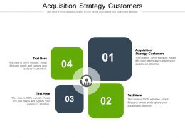 Acquisition Strategy Customers Ppt Powerpoint Presentation Model Example Topics Cpb