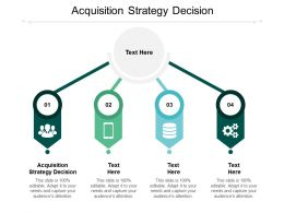 Acquisition Strategy Decision Ppt Powerpoint Presentation Slides Picture Cpb