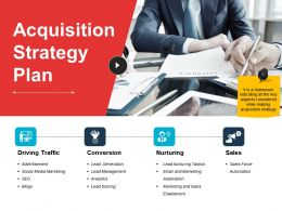 Acquisition Strategy Plan Powerpoint Slide Presentation Examples