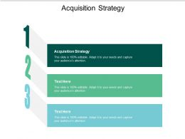 Acquisition Strategy Ppt Powerpoint Presentation Slides Styles Cpb