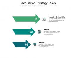 Acquisition Strategy Risks Ppt Powerpoint Presentation Icon Guide Cpb