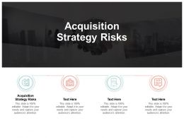 Acquisition Strategy Risks Ppt Powerpoint Presentation Inspiration File Formats Cpb