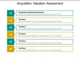 Acquisition Valuation Assessment Ppt Powerpoint Presentation Portfolio Cpb