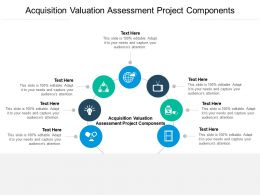 Acquisition Valuation Assessment Project Components Ppt Powerpoint Presentation Model Cpb