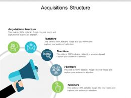 Acquisitions Structure Ppt Powerpoint Presentation Diagram Graph Charts Cpb