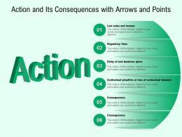 Action And Its Consequences With Arrows And Points