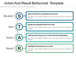 Action And Result Behavioral Template Sample Of Ppt