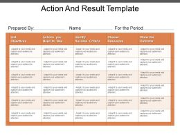Action And Result Template Powerpoint Ideas