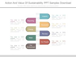 Action And Value Of Sustainability Ppt Samples Download