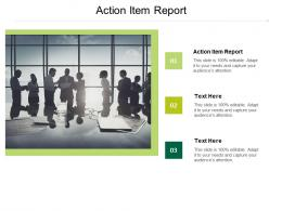 Action Item Report Ppt Powerpoint Presentation Summary Objects Cpb