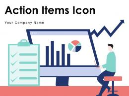 Action Items Icon Ecommerce Development Technical Training Management