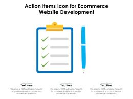 Action Items Icon For Ecommerce Website Development