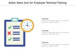 Action Items Icon For Employee Technical Training