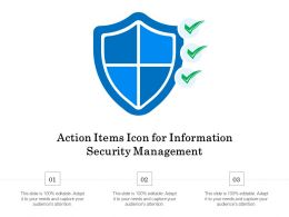 Action Items Icon For Information Security Management