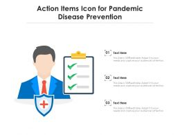 Action Items Icon For Pandemic Disease Prevention