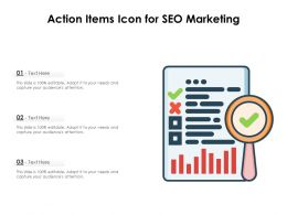 Action Items Icon For SEO Marketing