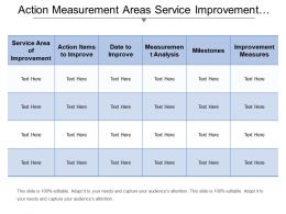 Action Measurement Areas Service Improvement Plan Template