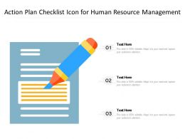 Action Plan Checklist Icon For Human Resource Management