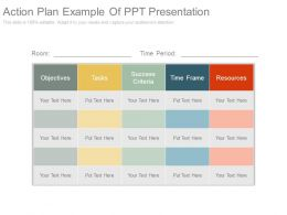 Action Plan Example Of Ppt Presentation