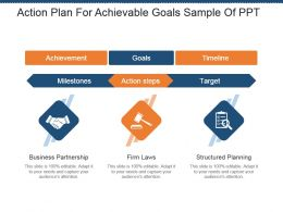 Action Plan For Achievable Goals Sample Of Ppt