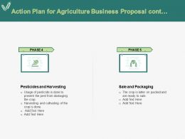 Action Plan For Agriculture Business Proposal Cont Ppt Powerpoint Presentation Slide