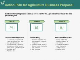 Action Plan For Agriculture Business Proposal Ppt Powerpoint Presentation Pictures Icon
