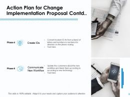 Action Plan For Change Implementation Proposal Contd Ppt Layout