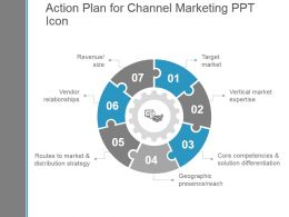 Action Plan For Channel Marketing Ppt Icon