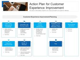 Action Plan For Customer Experience Improvement