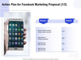 Action Plan For Facebook Marketing Proposal Ppt Powerpoint Presentation Infographics File Formats