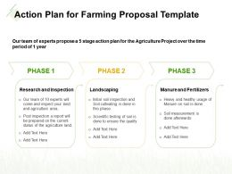 Action Plan For Farming Proposal Template Ppt Powerpoint Professional