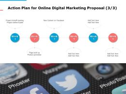 Action Plan For Online Digital Marketing Proposal Ppt Powerpoint Presentation Information
