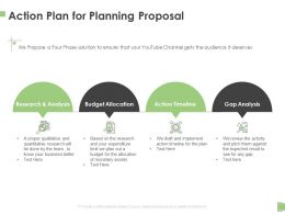 Action Plan For Planning Proposal Ppt Powerpoint Presentation Professional Layout