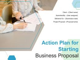 Action Plan For Starting Business Proposal Powerpoint Presentation Slides