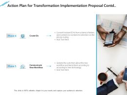 Action Plan For Transformation Implementation Proposal Contd Marketing Ppt Slide