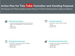 Action Plan For You Tube Promotion And Handing Proposal Ppt Slides