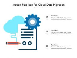 Action Plan Icon For Cloud Data Migration