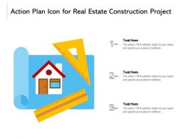 Action Plan Icon For Real Estate Construction Project