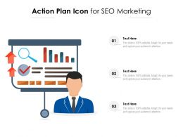 Action Plan Icon For SEO Marketing
