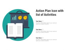 Action Plan Icon With List Of Activities