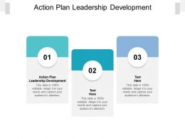 Action Plan Leadership Development Ppt Powerpoint Presentation Ideas Inspiration Cpb