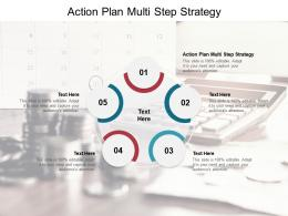 Action Plan Multi Step Strategy Ppt Powerpoint Presentation Styles Maker Cpb