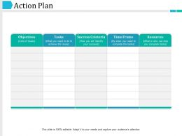 Action Plan Powerpoint Slide Background Picture