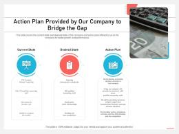 Action Plan Provided By Our Company To Bridge The Gap Plan Ppt Grid
